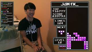 NES TETRIS - 313 Lines (Former) World Record  - 12/14/2018