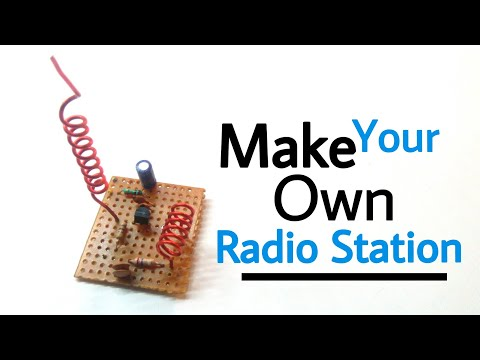 how to build your own radio station   very simple using one 2222 transistor