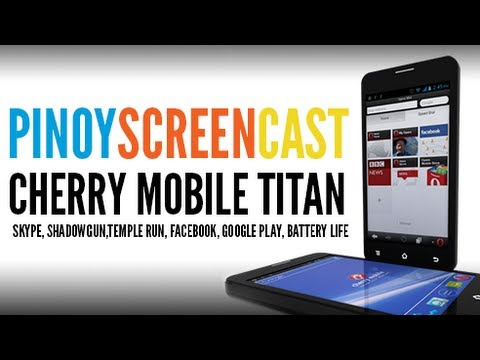 Cherry Mobile - Titan - Skype. ShadowGun.Temple Run. Facebook. Google Play. Battery Life [Tagalog]