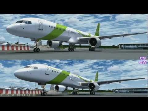 Captain Sim 757 vs Quality Wings 757 FSX HD