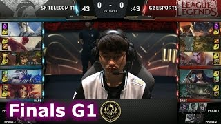 SK Telecom T1 vs G2 eSports | Game 1 Grand Finals LoL MSI 2017 Play-Offs | SKT vs G2 G1 Final