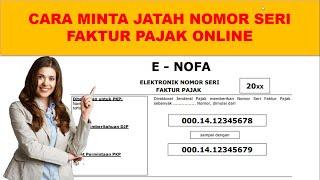 cara minta nomor seri faktur pajak online