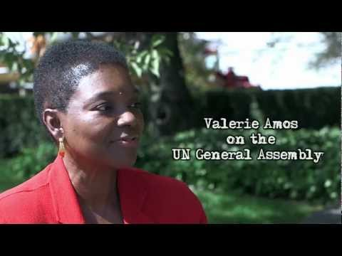 UN Humanitarian Chief Valerie Amos on humanitarian concerns and the General Assembly