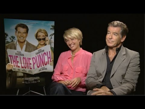 Emma Thompson & Pierce Brosnan - The Love Punch Interview at TIFF 2013 HD