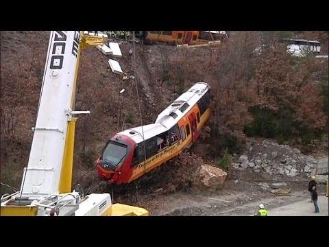 Train des Pignes: les rames accidentées retirées du site - 28/02