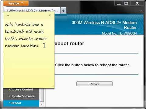 Review TP-Link W8960N e tutorial para desbloquear portas