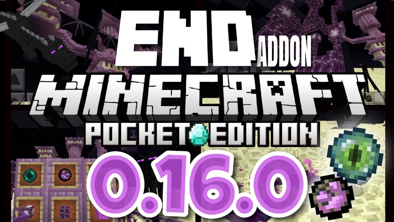 Minecraft Pocket Edition 0.16.0 - THE END ADDON! | Ender Dragon, Ender Pearls, + more! [MCPE 0.16.0]