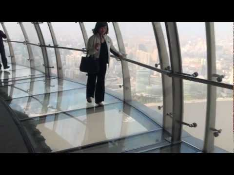Glass-bottomed skywalk,Oriental Pearl Tower, Shanghai.