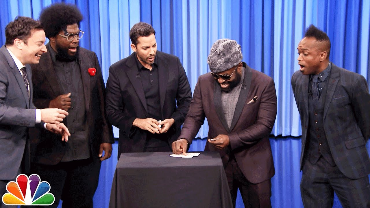 David Blaine Blows The Minds Of Jimmy Fallon And The Roots