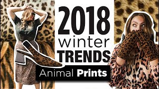 2018 WINTER TRENDS | ANIMAL PRINTS | SHNS