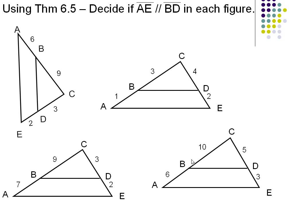 Drawing Parallel Lines With Triangles : Parallel lines proportional parts of triangles youtube