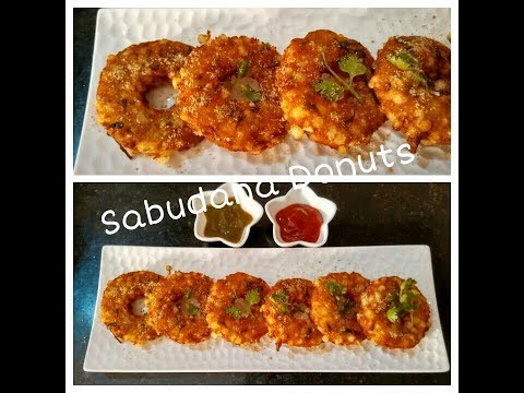 Sabudana Donuts Recipe | Crispy Fried Sabudana Vada | Sabudana Vada recipe by Somyaskitchen