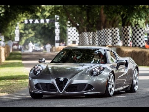 2014 Alfa Romeo 4C in Action Goodwood Festival of Speed