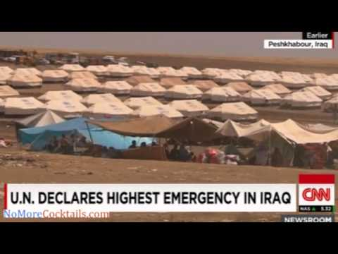 Yazidis continue to flood UN refugee camp, yet Obama says things are better than previously thought