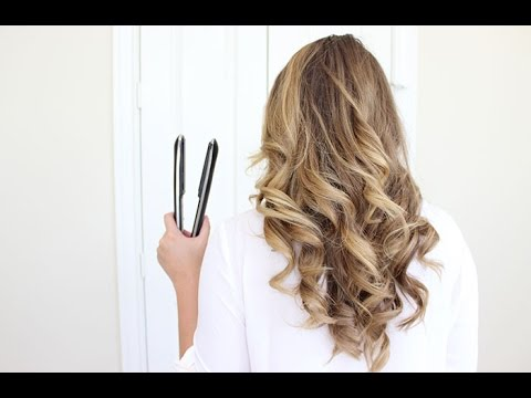 How To Curl Your Hair With A Flat Iron   Long Lasting