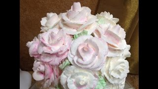 Giant Buttercream Roses on a Marshmallow- Cake Decorating