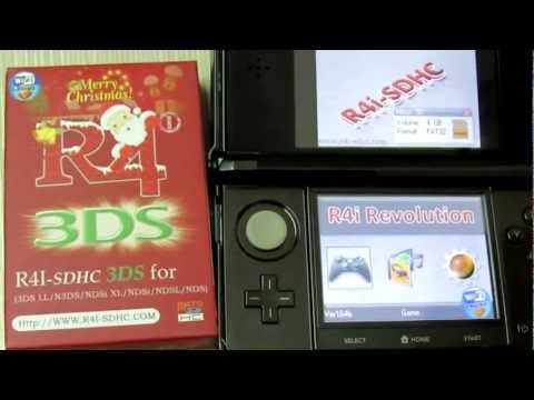 R4 3DS - R4i SDHC 3DS V4.5 Works Fine on 3DS (XL) Ver 4.5.0-10U.flv