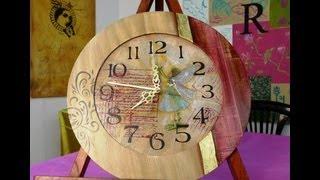 Play reloj de frozen en foamy o goma eva parte 1 - Como hacer un reloj de pared ...