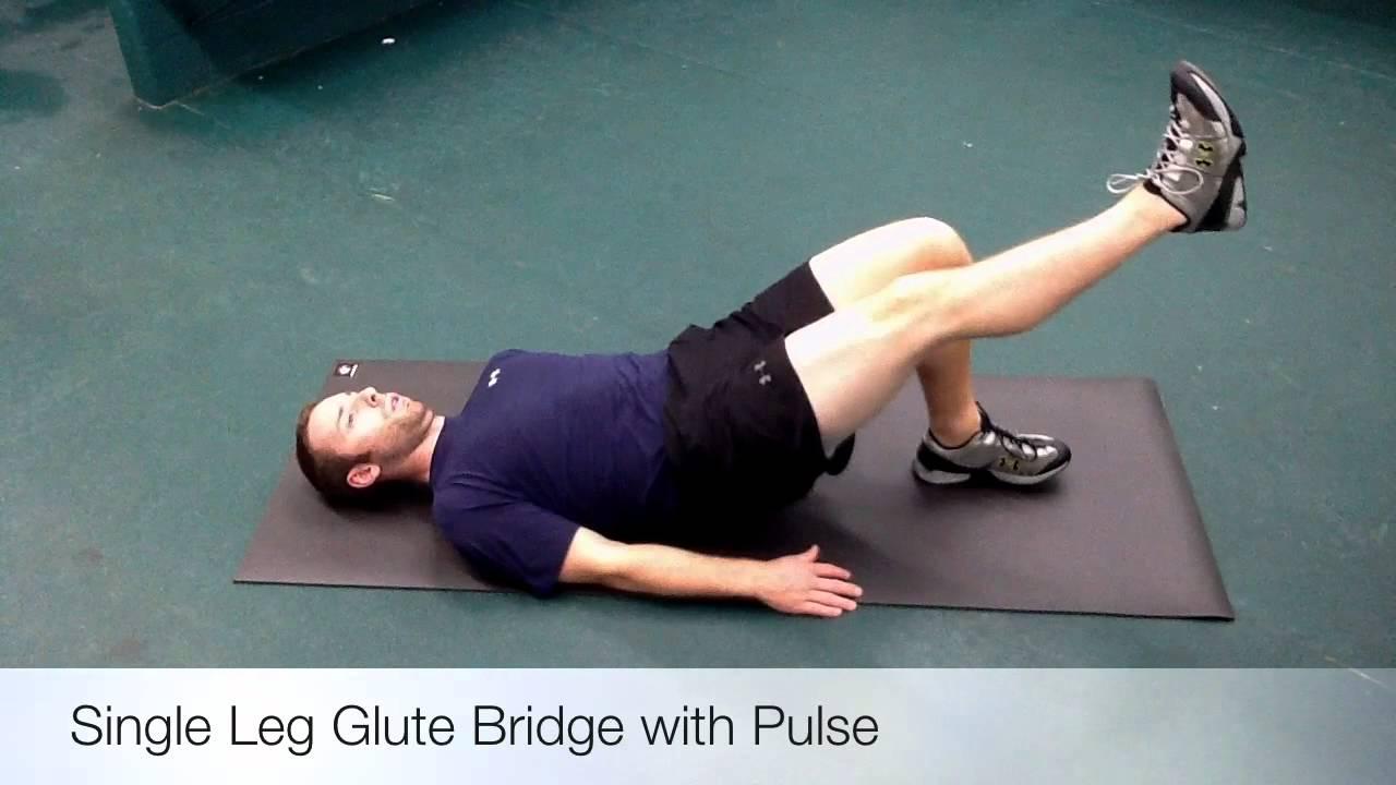 Single Leg Glute Bridge with Pulse - YouTube