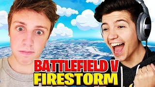 Can W2S and I CARRY OUR TEAM TO VICTORY? (Battlefield V Firestorm Battle Royale with Valkyrae & Xav)