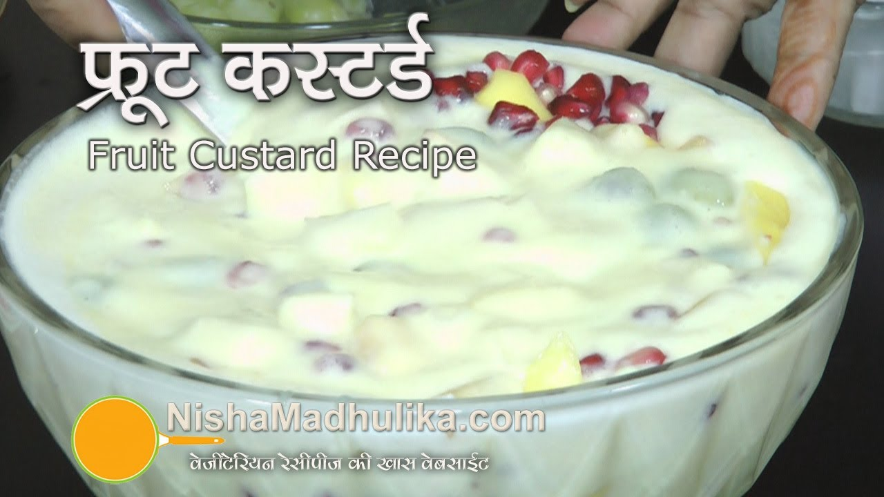 Fruit Custard recipe | Fruit Salad with Custard - YouTube
