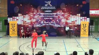 Ekaterina Negoduiko & Philipp Sauter - Landesmeisterschaft Hessen, Rlp, Saarland 2016