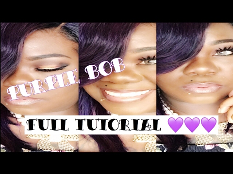 Purple bob sew-in unit d.i.y ( highly requested)