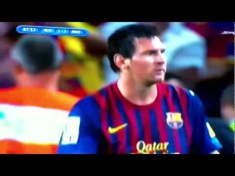 Barcelona vs Real Madrid : Messi Gol (3-2) Supercopa 2011