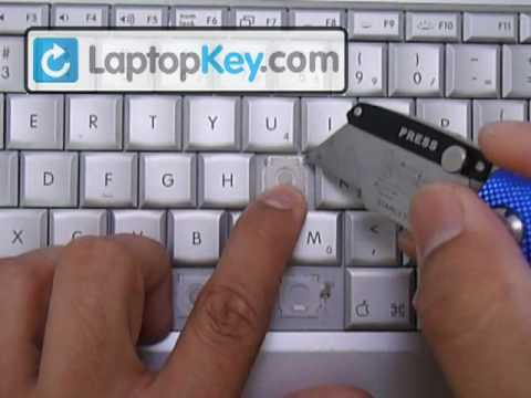 Replace Key on Apple Macbook Pro Keyboard topcase Aluminum G4  Mac Book   Fix Laptop Repair