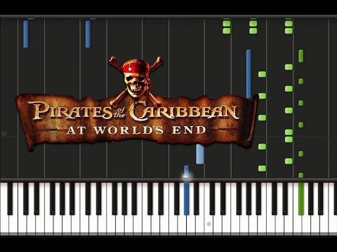 Pirates of Caribbean: At World's End - Theme Song Synthesia Tutorial