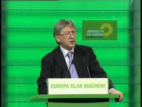 Jean-Claude Juncker auf grünem Bundesparteitag in Dortmund