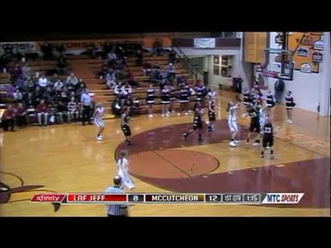 McCutcheon's Gabrielle Gary AMAZING 3 Point Basket off Loose Ball Save on MTC Sports