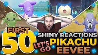 50 EPIC SHINY REACTIONS IN POKEMON LETS GO PIKACHU AND EEVEE! SHINY LIVING DEX MONTAGE!