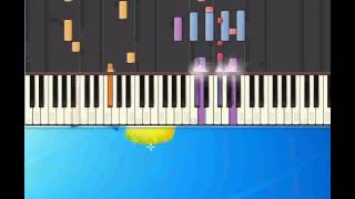 A me me piace o blues Daniele Pino [Piano tutorial by Synthesia]