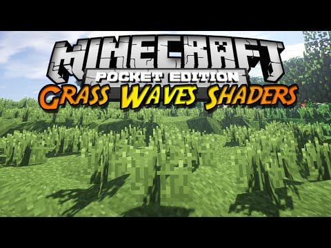 Minecraft PE 0.10.X Shader Pack Grass Waves Shaders Español ¡Viento real