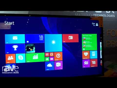 InfoComm 2015: DISPLAX Multitouch Explains Skin Ultra Large Format Touch Experience