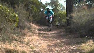 mountain biking downhill