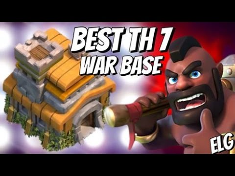 Clash of Clans - Best Trophy/War Base - Town Hall 7 - Best Defensive Base Ever - Dark Exilir Pump