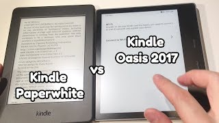 Kindle Oasis 2 (2017) Review and Comparison