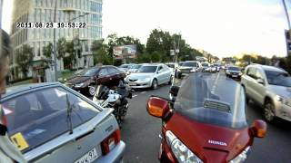 ДТП Honda goldwing и ученика на ул. Удальцова