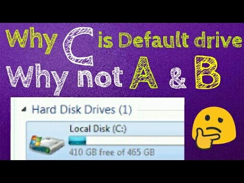 Do you know Why C is the Default Drive on your Computer & Not A or B ? Here's Why  in Hindi