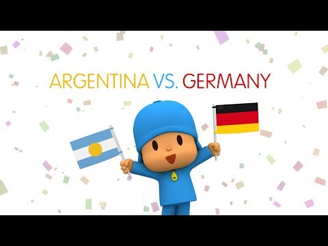 Pocoyo World Cup 2014: Argentina Vs Germany (Finals)