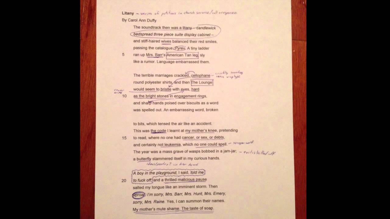 Valentine duffy poem