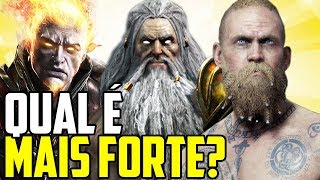 DEUSES DE GOD OF WAR - DO MAIS FRACO AO MAIS FORTE!