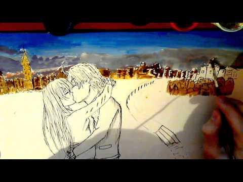 How to draw anime kiss(отредактированное)