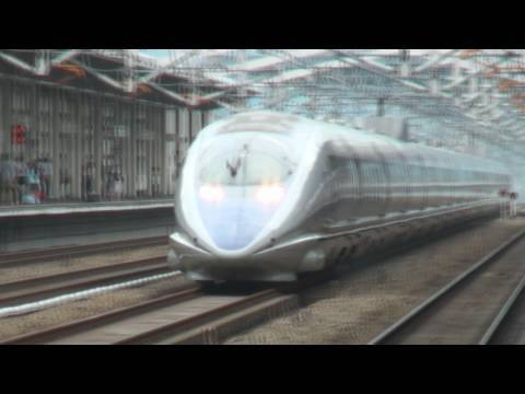 Sanyo Shinkansen &acirc; Super-Express NOZOMI &acirc; 500 Series &acirc; JR WEST Japan Railway Company &acirc; Himeji station.