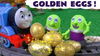 Funny Funlings Golden Egg Hunt with Thomas and Friends Toy Trains fun story for kids TT4U