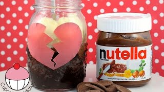 BREAK-UP BROWNIE Recipe! 2 Minute Chocolate Nutella Brownie Jar