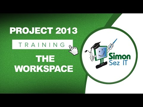 Microsoft Project 2013 Tutorial - The Workspace