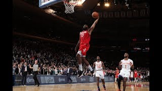 Rockets-Knicks Trade Buckets In MSG Thriller, Harden Caps 61 Points With Vicious Dunk